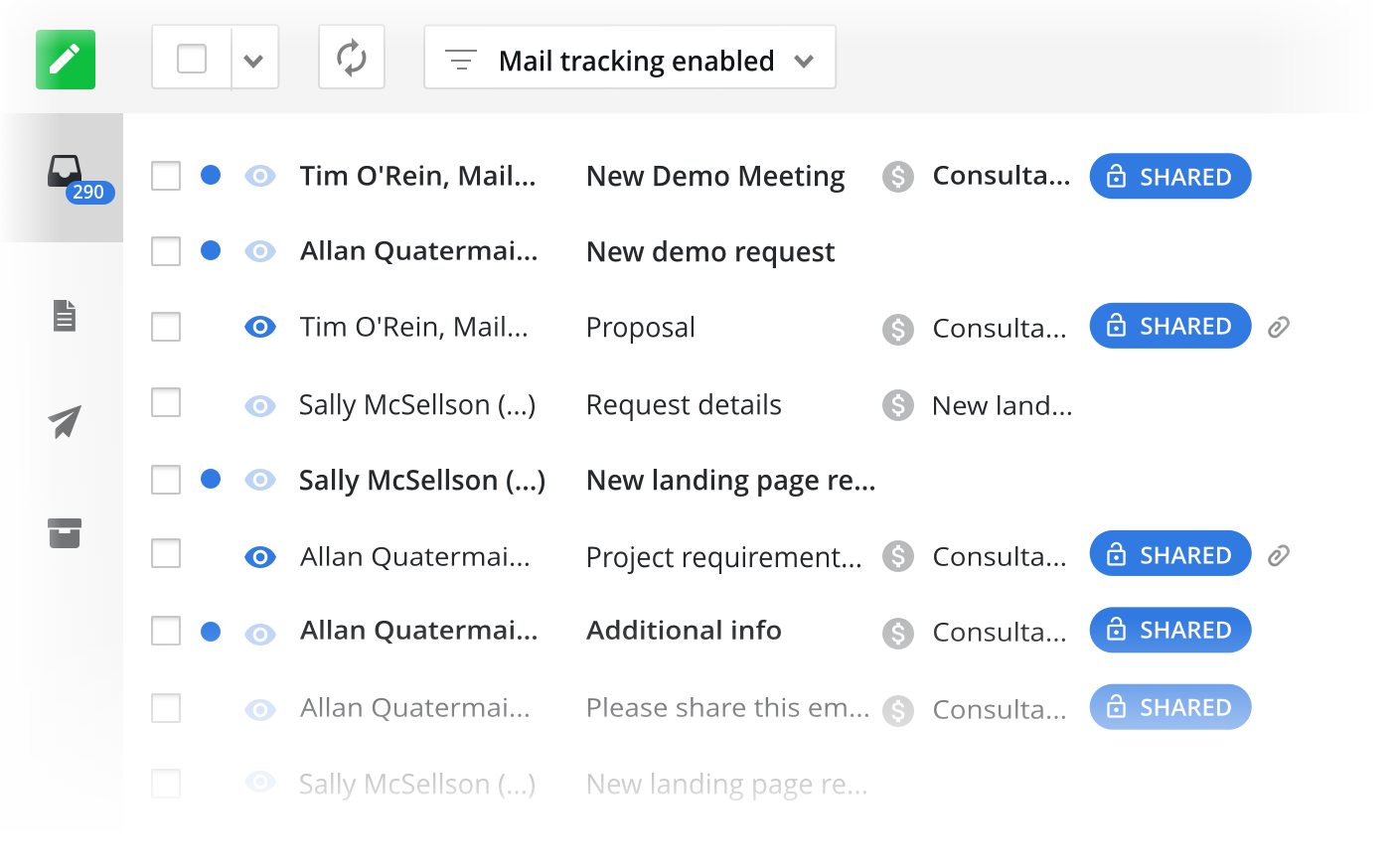 Email sync to keep all your sales data in one hub
