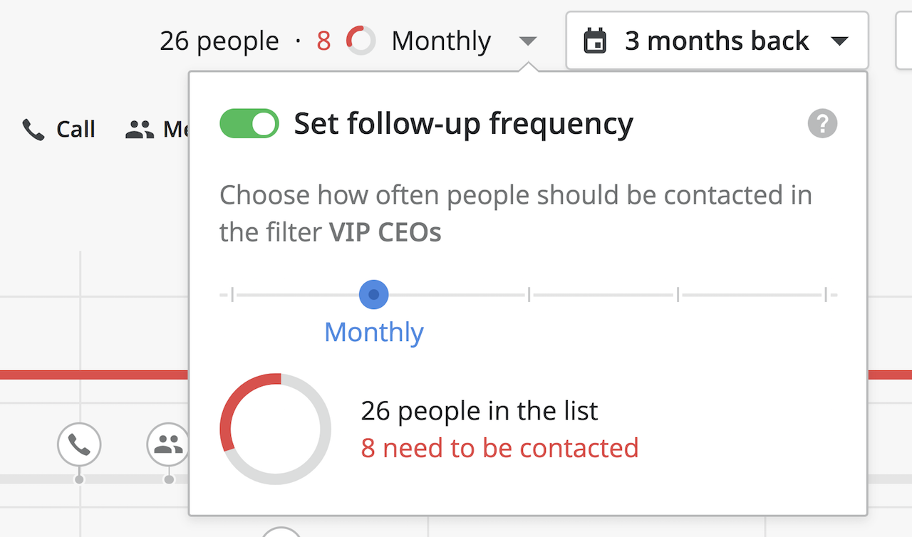 Pipedrive contacts management & customer timeline