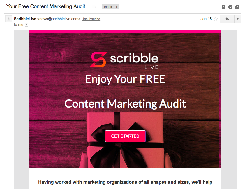 Scribble Content Marketing Audit