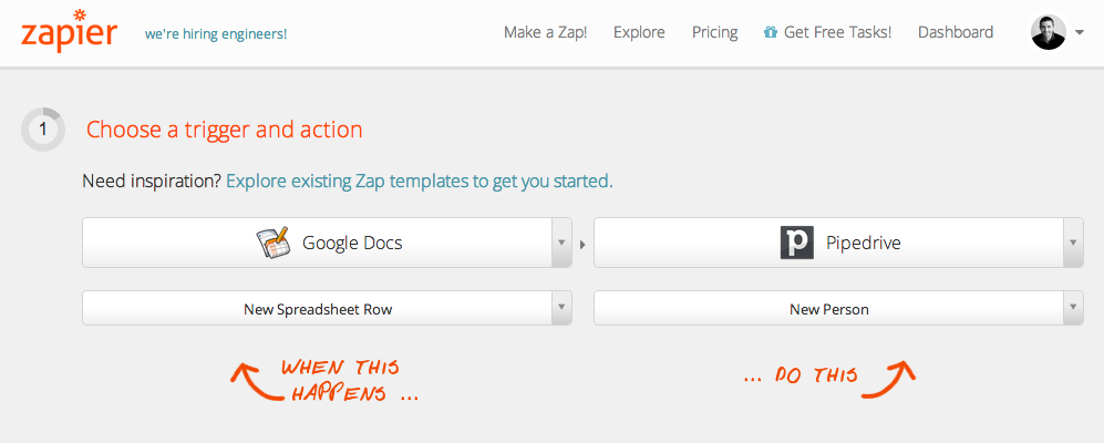 Google Docs to Pipedrive Zapier