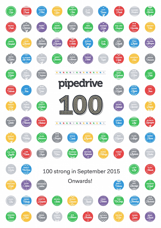 Pipedrive 100 strong whole poster
