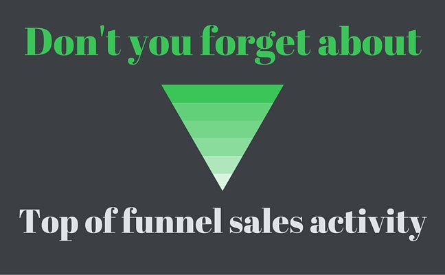 top of funnel sales activity