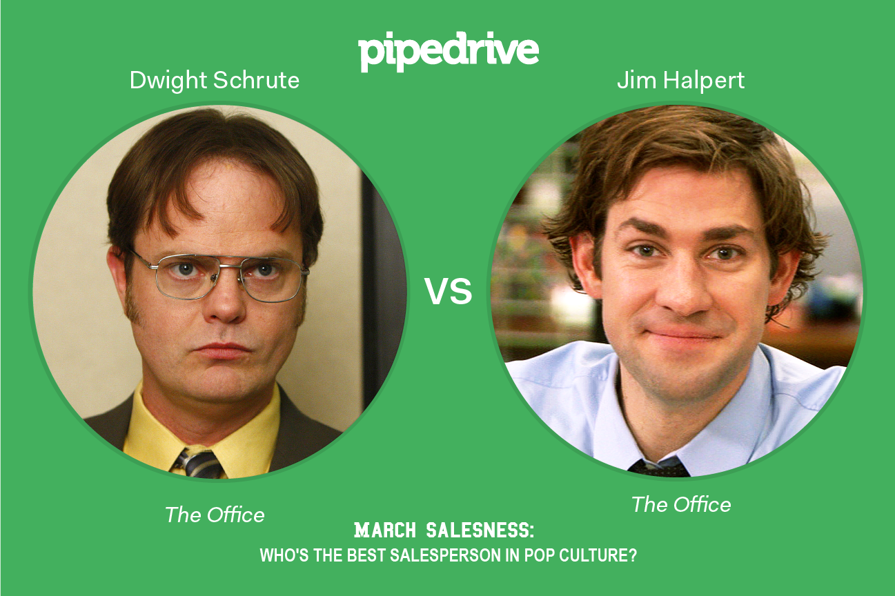 Pipedrive March Madness Dwight Schrute vs. Jim Halpert