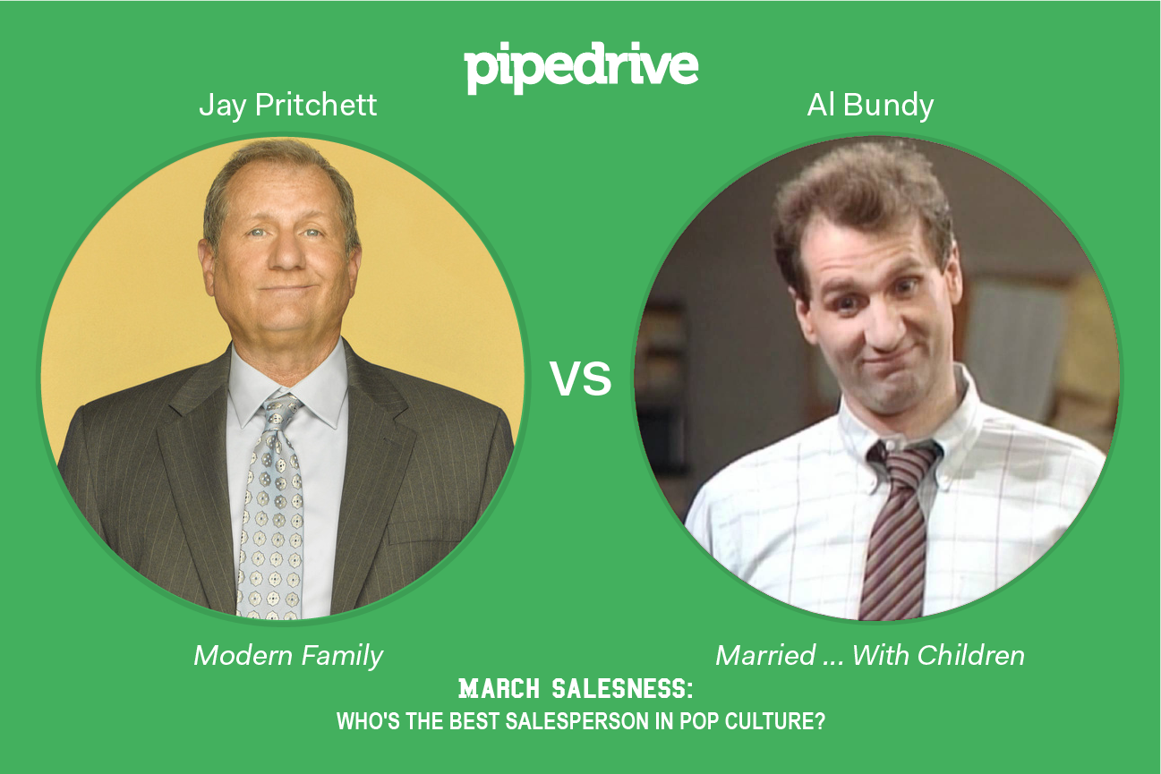 Pipedrive March Madness Jay Pritchett vs. Al Bundy