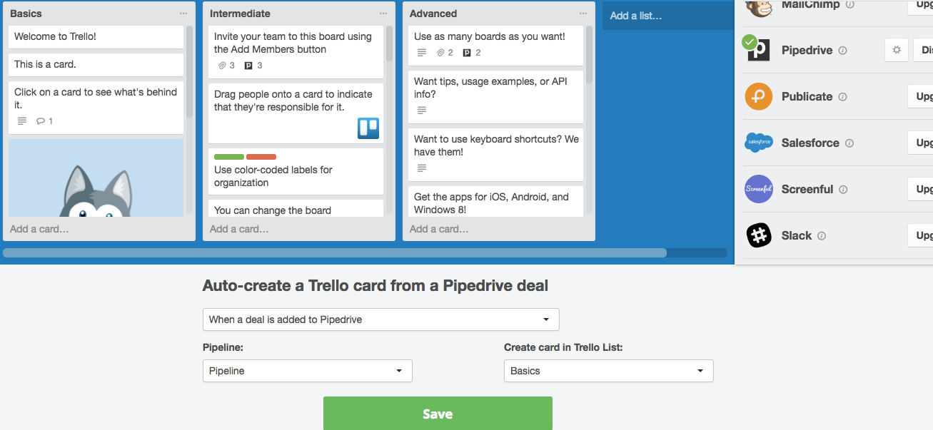 Trello and Pipedrive