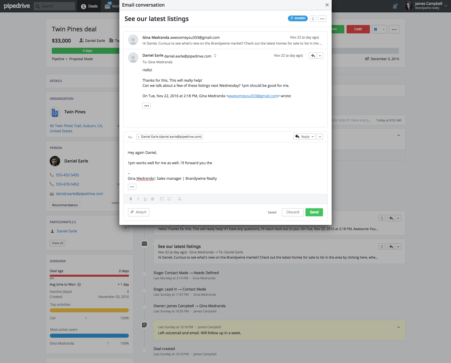 10 Pipedrive Habits two way email sync
