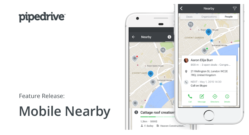 Pipedrive Mobile Nearby View