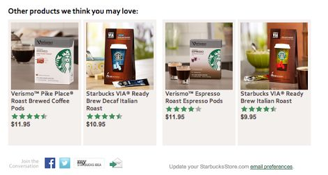 Starbuck abandoned cart email