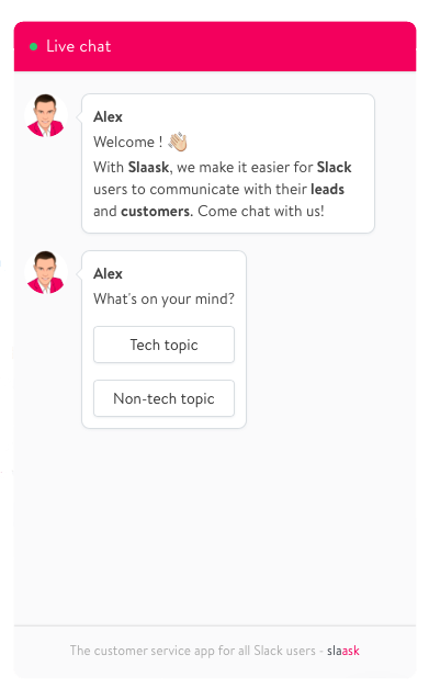 Slaask Pipedrive live chat