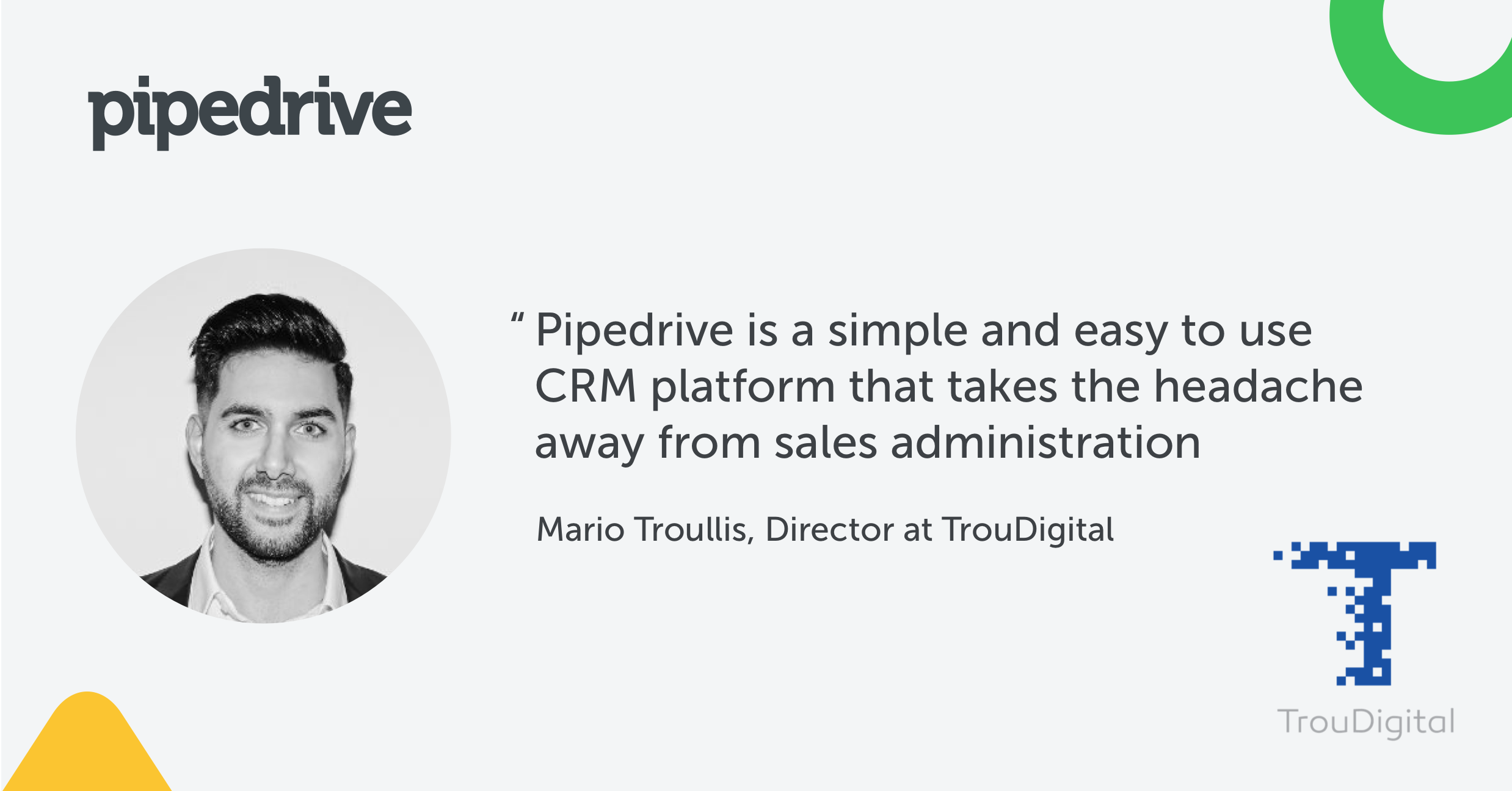 software app development use case Pipedrive