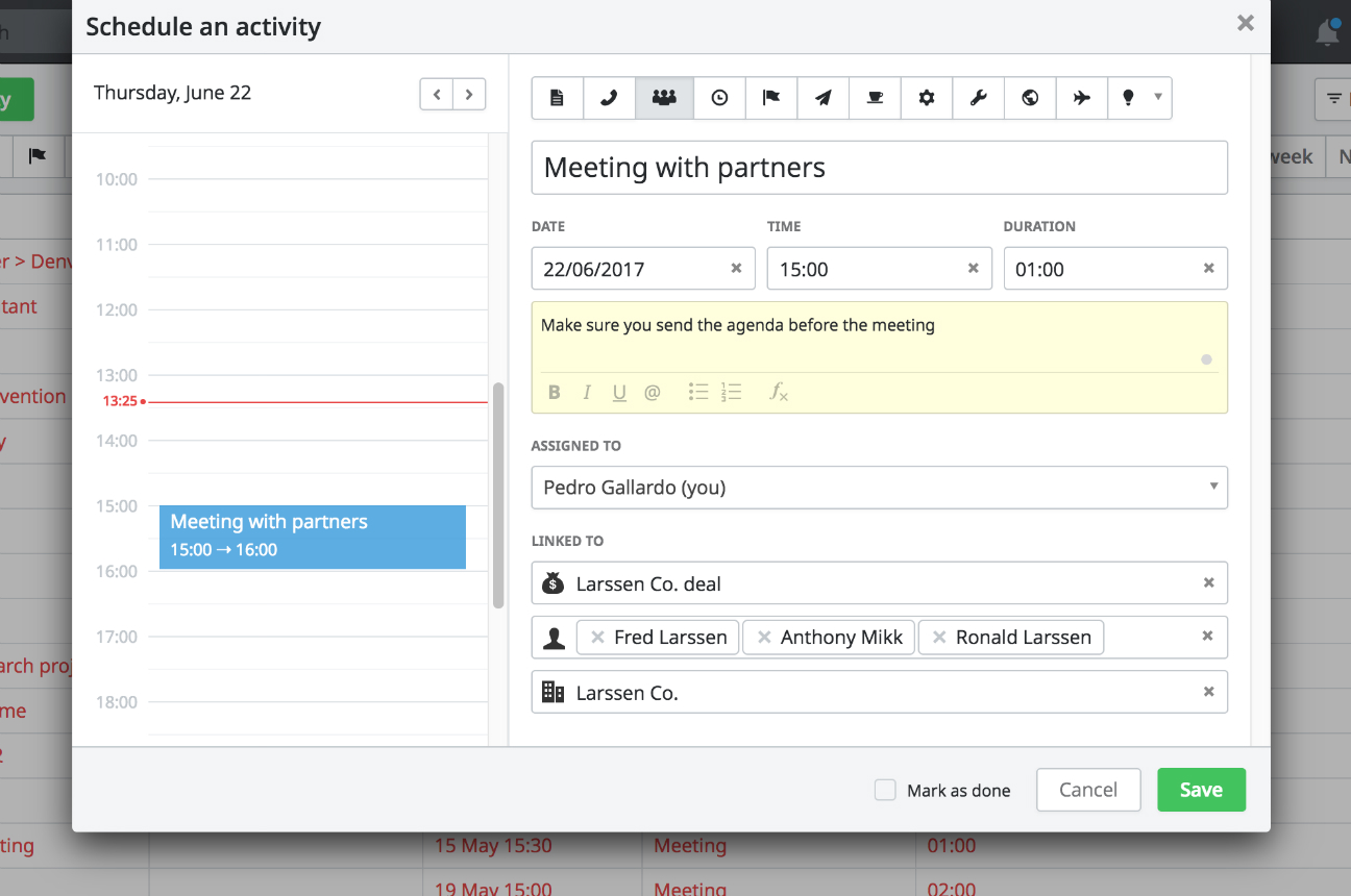Multiple Contacts in Activity View