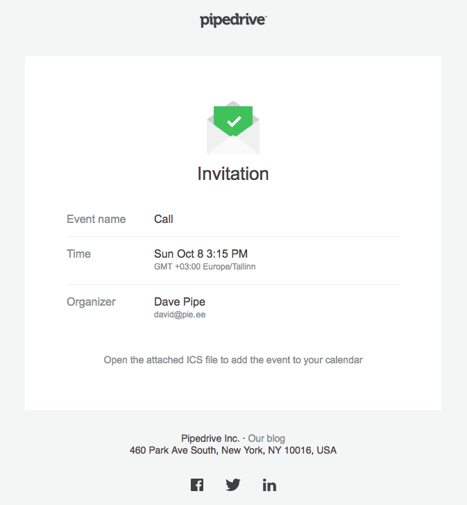 Activity Invites Get Everyone on the Same Page | Pipedrive